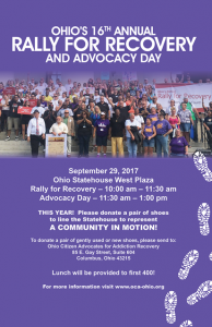 Rally for Recovery @ Ohio Statehouse West Plaza | Columbus | Ohio | United States